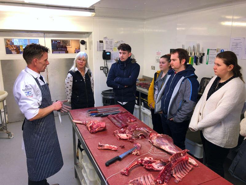 Butchery demo at Balgove Larder